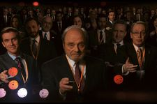 "Bill Kavish (Dan Stevens), Jo Wilf (Harris Yulin), Rabbi Blumenthal (Steve Buscemi): ""Well, every fairy tale has a ball."""