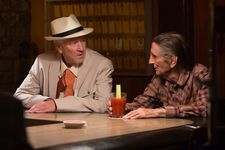 Harry Dean Stanton in his last starring role in John Carroll Lynch's Lucky with David Lynch who plays Howard