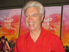 David Byrne is all smiles in support of Michel Gondry's Mood Indigo