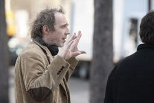 "Arnaud Desplechin on the set: ""I love when Jimmy is looking at Lincoln looking at the grave."""