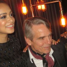 Devika Bhise with Jeremy Irons at Elyx House after party