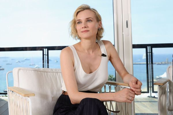 Diane Kruger atop the Majestic Hotel in Cannes