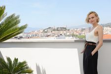 Cannes star Diane Kruger admires the view from the top of the Majestic Hotel
