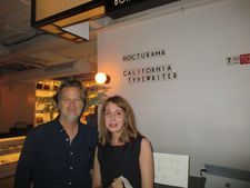 California Typewriter director Doug Nichol with Anne-Katrin Titze at Metrograph