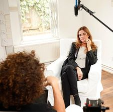 Eco-Age founder and executive producer Livia Firth interviewed by Andrew in London