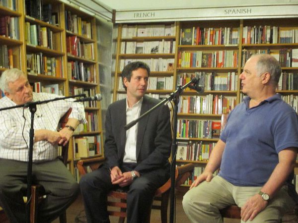 "Edmund White and Frank Rich with Antonin Baudry at Quai d'Orsay - Weapons of Mass Diplomacy Drawing The Line at McNally Jackson in New York: ""I remember it was really like being in film school."""