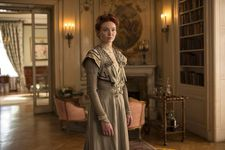 "Eleanor Tomlinson is Georgie Raoul-Duval - Wash Westmoreland on costume designer Andrea Flesch: ""She was obsessed with 19th century fabrics and materials and stitching and wanted every detail."""