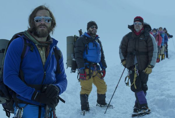 Jason Clark, Jake Gyllenhaal and Josh Brolin in Everest