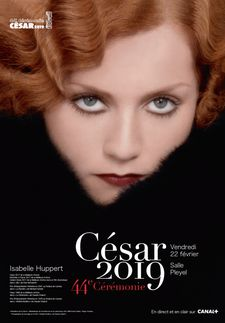 Face of this year's Césars: Isabelle Huppert
