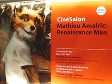 Mathieu Amalric: Renaissance Man poster featuring Fantastic Mr. Fox and Julian Schnabel's The Diving Bell And The Butterfly