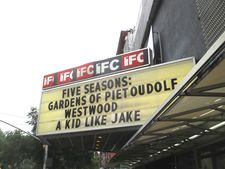 ‪Five Seasons: The Gardens Of Piet Oudolf‬ on the IFC Center marquee