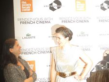Eva Husson in the spotlight with Film Society of Lincoln Center's Associate Director of Programming Florence Almozini