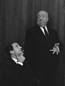 "François Truffaut looking up to Alfred Hitchcock: ""Sometimes it's one to one - when Marty is talking about the defector in Topaz or Janet Leigh …"""