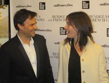 Young and Beautiful director François Ozon with his star Géraldine Pailhas