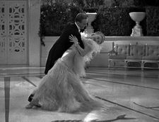 Fred Astaire and Ginger Rogers Dancing Cheek To Cheek in Top Hat