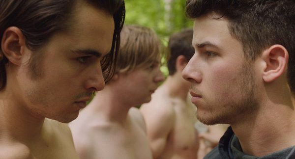 Ben Schnetzer and Nick Jonas in Goat - reeling from a terrifying assault, a 19-year-old boy pledges his brother's fraternity in an attempt to prove his manhood. What happens there, in the name of 'brotherhood', tests both the boys and their relationship in brutal ways.