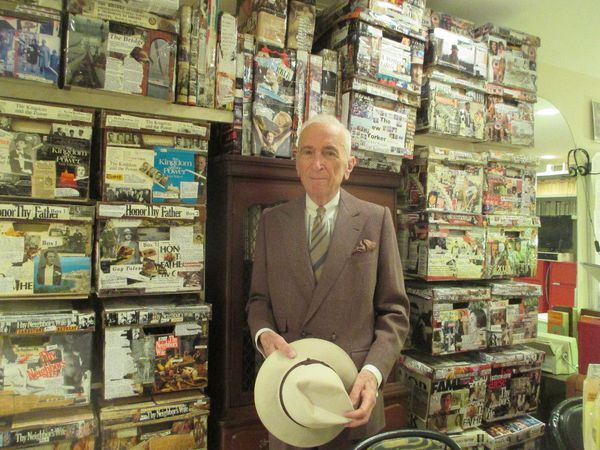 "Gay Talese at home in his office: ""Can you imagine if Anthony Hopkins was a voyeur? What a part it could be."""