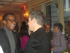 Lee Daniels' Precious screenwriter Geoffrey Fletcher chats to Matt Damon at 21 Club