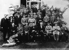 Gertrude Bell and friends at the 1921 Cairo Conference
