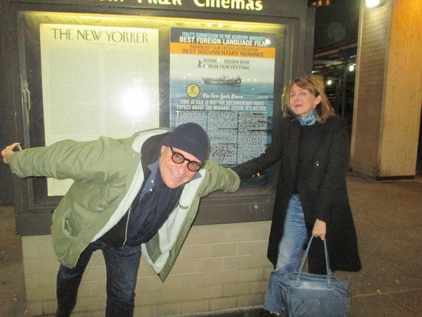 Gianfranco Rosi with Anne-Katrin Titze after the screening of Fire At Sea: