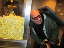 Gianfranco Rosi listens to the popcorn kettle