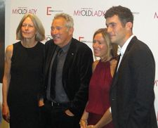 My Old Lady red carpet - all in the family - Gillian Horovitz, Israel Horovitz, Rachael Horovitz and Oliver Horovitz