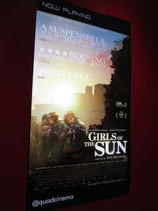 Girls Of The Sun poster at the Quad Cinema in New York