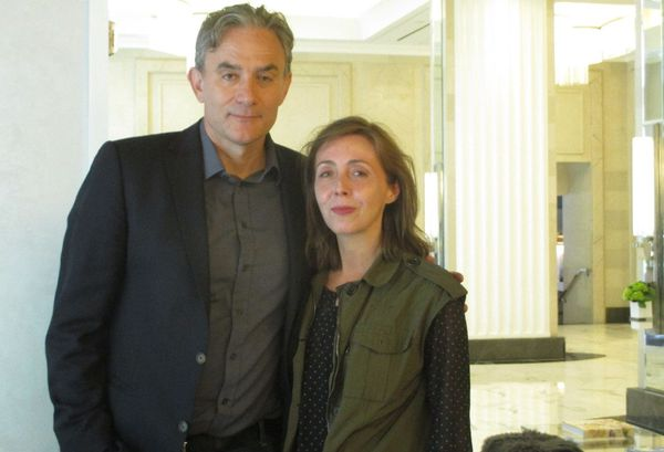 Labyrinth Of Lies director Giulio Ricciarelli with Anne-Katrin Titze