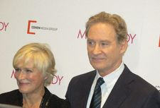 "My Old Lady star Kevin Kline with co-host Glenn Close on his character: ""He doesn't dress nearly as well as Errol Flynn."