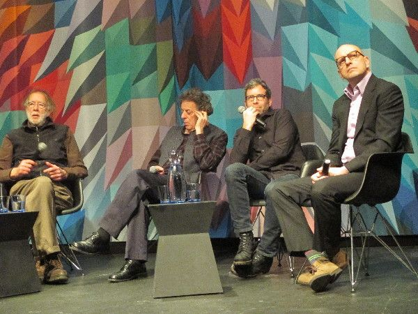 Godfrey Reggio with Philip Glass, Jon Kane, Steven Soderbergh: