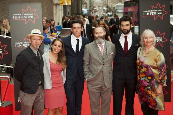 Ian Hart, Manon Ardisson, Josh O' Connor, Francis Lee, Alec Secareanu and Gemma Jones on the red carpet for God's Own Country