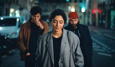 Mona (Golshifteh Farahani) with Abel (Louis Garrel) and Clément (Vincent Macaigne)