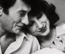 From the archives: Johnny Hallyday, Nathalie Baye and baby Laura.