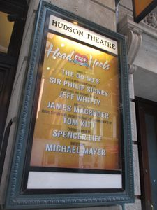 Head Over Heels begins previews on June 23 at the Hudson Theatre in New York