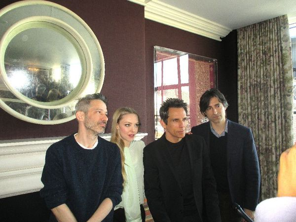 Beastie Boy Adam Horovitz, Amanda Seyfried and Ben Stiller with While We're Young director Noah Baumbach, also starring Naomi Watts and Adam Driver with Charles Grodin, Maria Dizzia and Dree Hemingway