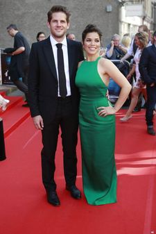 Ryan Piers Williams and America Ferrera at the world premiere of Hyena