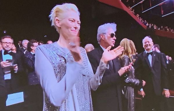 Tilda Swinton, Jim Jarmusch, Sara Driver and Bill Murray at Cannes opening night premiere The Dead Don't Die