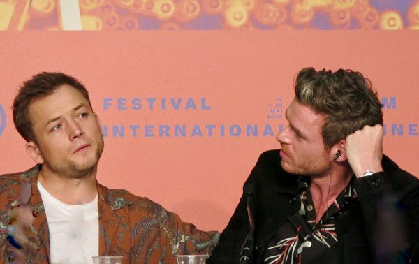 Taron Egerton and Richard Madden talking up Rocketman at the Cannes Film Festival