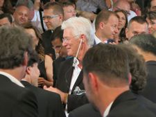 Face in the crowd … Richard Gere at tonight's opening of the Karlovy Vary International Film Festival
