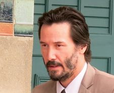 Keanu Reeves unveiled a beach hut named in his honour on Deauville's walk of fame on the historic beach board walk.