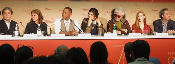 Cannes jury duty for (from left) Park Chan-Wook, Maren Ade, Will Smith, Agnès Jaoui, Pedro Amodóvar, Jessica Chastain and Paolo Sorrentino.