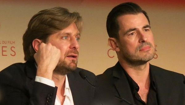 Director Ruben Östlund and actor Claes Bang in Cannes for the premiere of The Square
