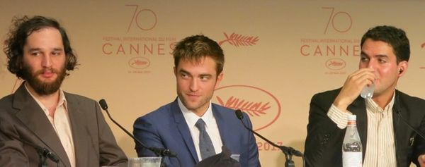 Joshua Safdie, Robert Pattinson and Ben Safdie in Cannes