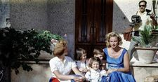 Ingrid Bergman with her children: Pia, Isabella, Ingrid and Roberto