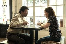 "Robert (Irrfan Khan) with Agnes (Kelly Macdonald): ""She doesn't have a filter almost. She just says what she's thinking."""