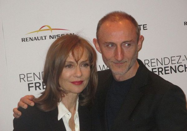 Guillaume Nicloux and Isabelle Huppert at the Valley of Love premiere