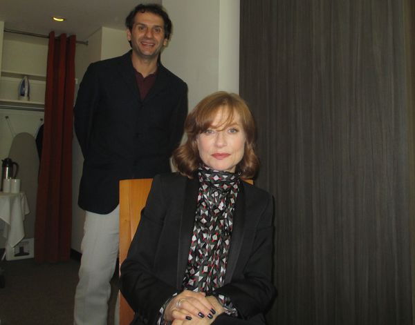 Isabelle Huppert with her Mrs. Hyde (Madame Hyde) director Serge Bozon