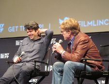 Robert Redford with All Is Lost director JC Chandor