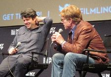 JC Chandor with Robert Redford at the 51st New York Film Festival for All is Lost