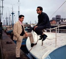 Jacques Demy and Michel Legrand at the harbour